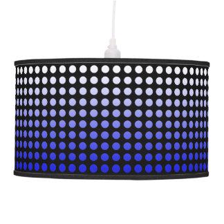 Black & Blue Fade Polka Dot Pendant Lamp
