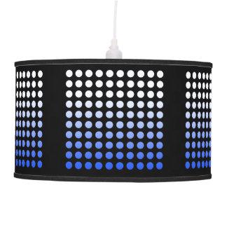 Black & Blue Fade Polka Dot Pendant Lamp 2