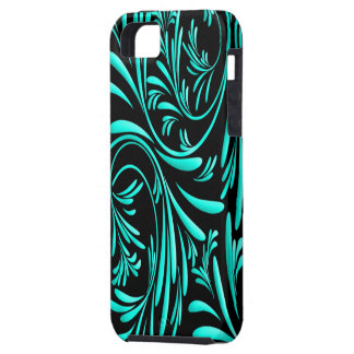 Black Blue Floral Iphone 5 Case-Mate Case