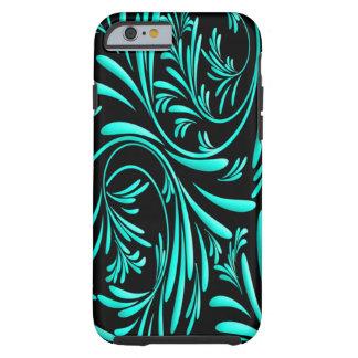 Black Blue Floral iPhone 6 Case