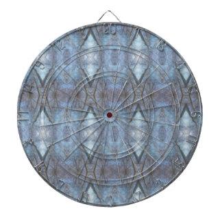 Black Blue Geometric Cross Diamonds Pattern Dartboards