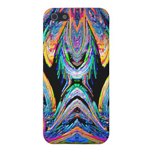 Black Blue Gold Abstract Speck Case Covers For iPhone 5