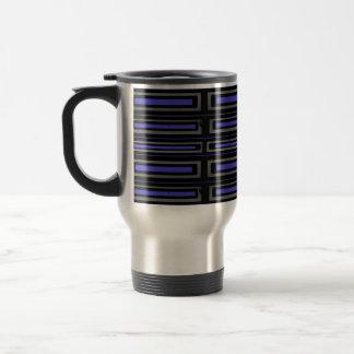 Black blue gray travel mug