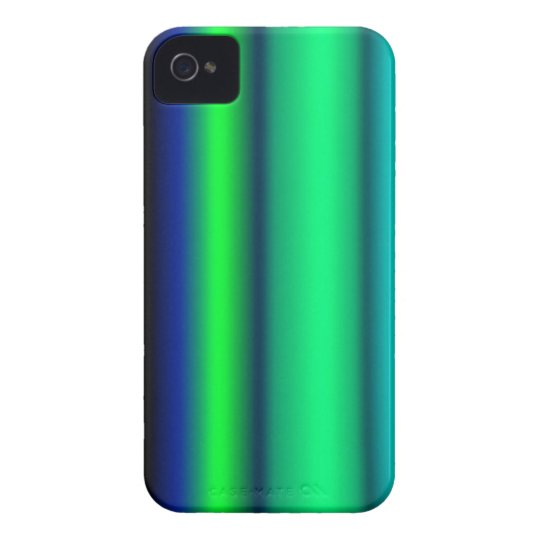 Black blue green strips iPhone 4 case