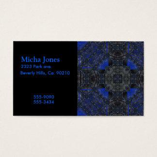 Black & Blue Grunge Utopia Business Card