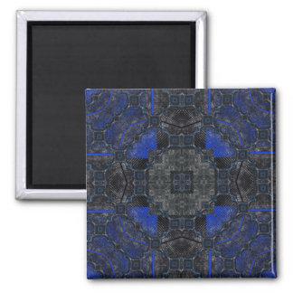 Black & Blue Grunge Utopia Magnet