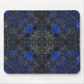 Black & Blue Grunge Utopia Mouse Pad