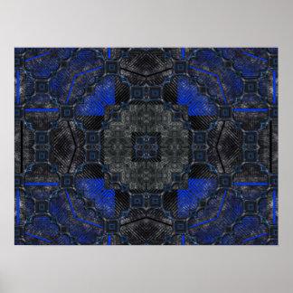 Black & Blue Grunge Utopia Poster