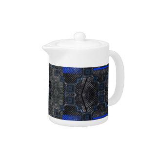 Black & Blue Grunge Utopia Teapot