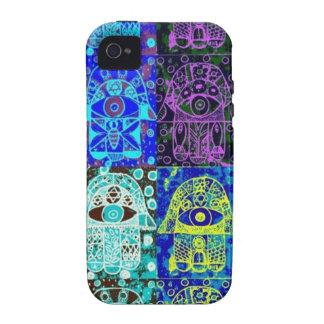 Black & Blue Hamsa iPhone 4/4S Cover