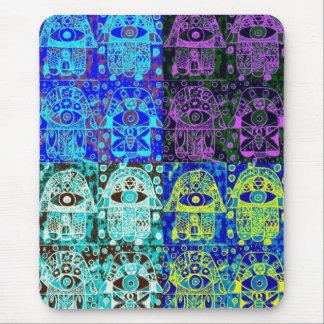 Black & Blue Hamsa Mouse Pad