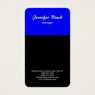 Black Blue Handwriting Script Minimalist Modern Business Card