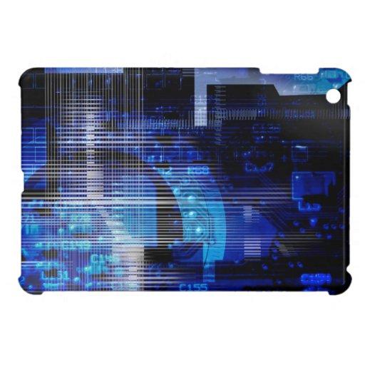 Black blue high tech design ipad mini case