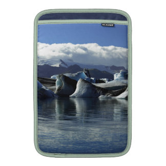 Black & Blue Icebergs, Iceland Sleeve For MacBook Air