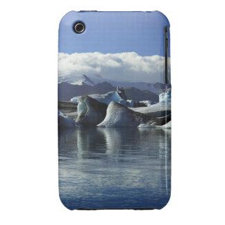 Black & Blue Icebergs, Iceland iPhone 3 Cover