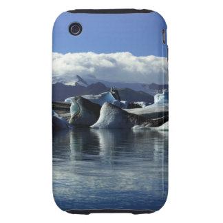 Black & Blue Icebergs, Iceland iPhone 3 Tough Case