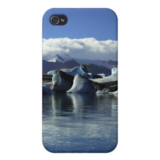Black & Blue Icebergs, Iceland iPhone 4 Case
