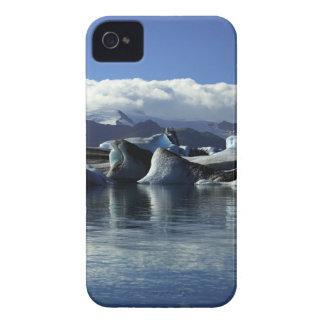 Black & Blue Icebergs, Iceland iPhone 4 Case-Mate Case