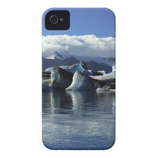 Black & Blue Icebergs, Iceland iPhone 4 Cover