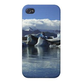 Black & Blue Icebergs, Iceland iPhone 4 Covers
