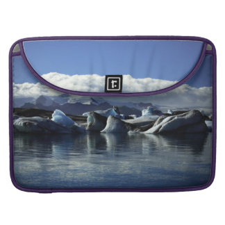 Black & Blue Icebergs, Iceland Sleeve For MacBook Pro
