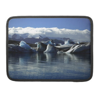 Black & Blue Icebergs, Iceland Sleeve For MacBooks