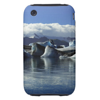 Black & Blue Icebergs, Iceland Tough iPhone 3 Cover