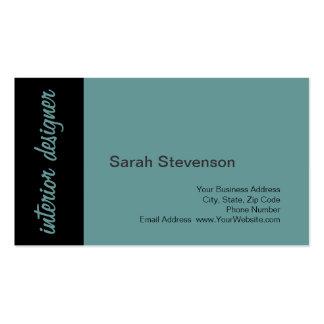 Black Blue Interior Designer Business Card