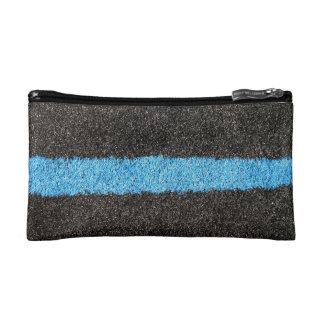 Black Blue Lawn Cosmetic Bag