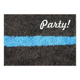 "Black Blue Lawn 5"" X 7"" Invitation Card"