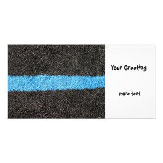Black Blue Lawn Photo Card