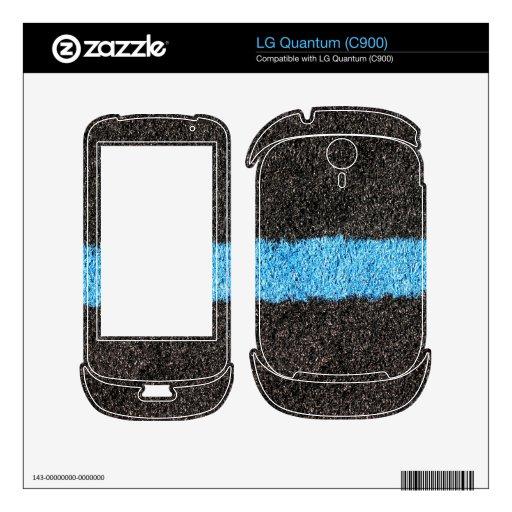Black Blue Lawn LG Quantum Skins