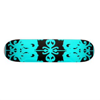 Black & Blue Mirror Image Skateboard Decks