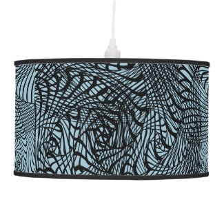Black Blue Mix Modern Zen-tangle Style Patterned Ceiling Lamps