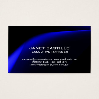Black Blue Modern Professional Personal Simple Business Card