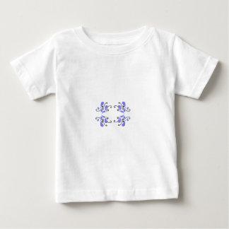 Black & Blue Monogram Frame Baby T-Shirt