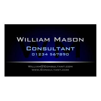 Black Blue Monogram Professional - Business Card