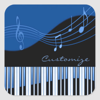 Black & Blue Musical Melody Stickers