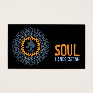 Black Blue Orange Soul Bonzai Tree Business Card