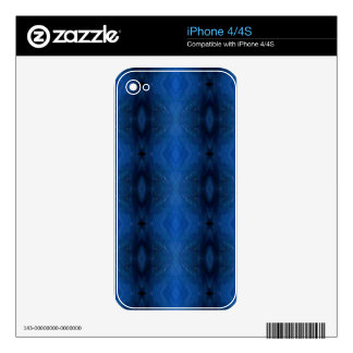 Black Blue Personalizable Pattern For Guys iPhone 4 Decal