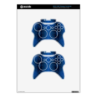 Black Blue Personalizable Pattern For Guys Xbox 360 Controller Skins