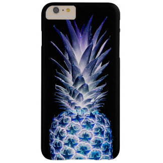 Black Blue Pineapple Barely There iPhone 6 Plus Case