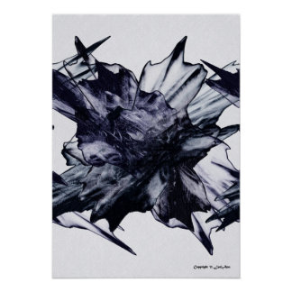 Black & Blue Posters