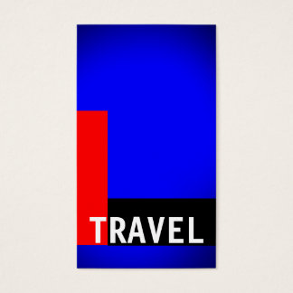 Black Blue Red Travel Agent Business Card