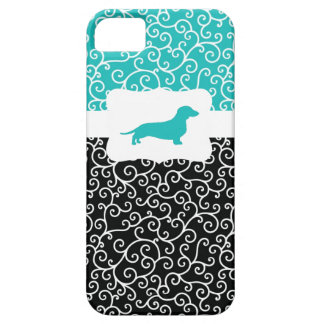 Black&Blue remolina w/Dachshund iPhone 5 Case-Mate Protector