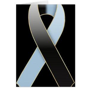 black and blue ribbon
