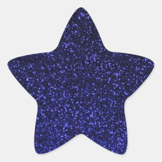 Black blue sparkly glitter star sticker