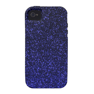 Black blue sparkly glitter vibe iPhone 4 case