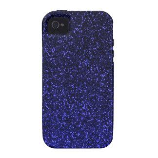 Black blue sparkly glitter vibe iPhone 4 case