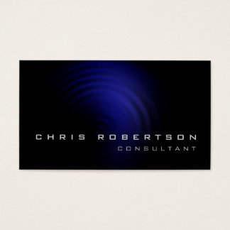 Black Blue Spiral Pattern Consultant Business Card